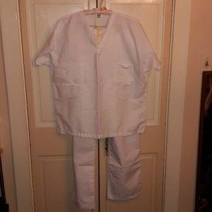 Pants - White Scrub set